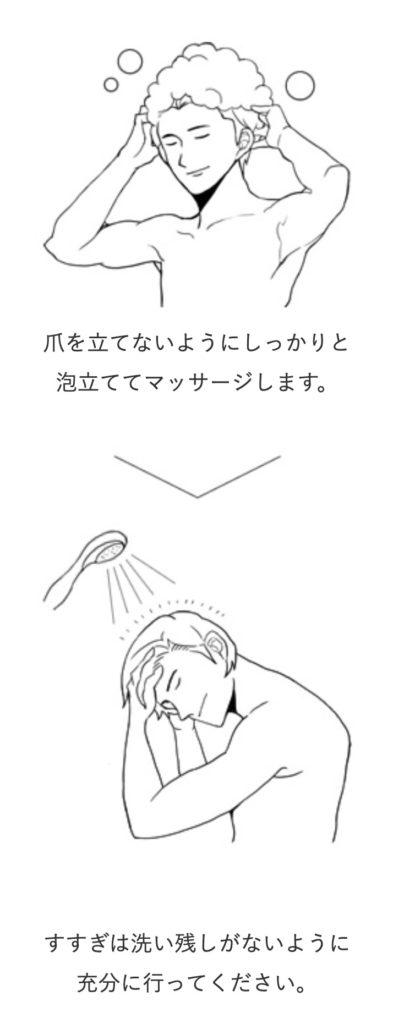 フィンジアの使い方 シャンプー