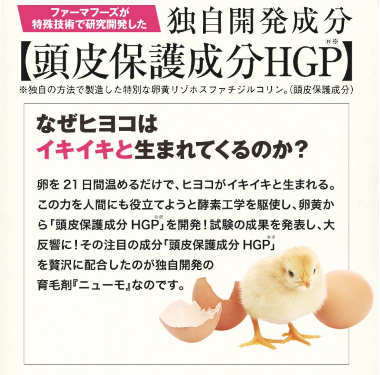 ニューモ独自成分 HGP
